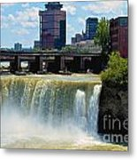 Rochester At High Falls Metal Print
