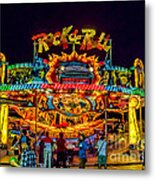 Rock And Roll On The Boardwalk Metal Print