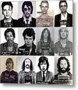 Rock And Roll's Most Wanted - Part II Metal Print
