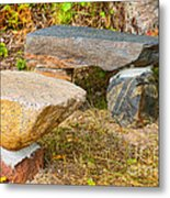 Rock Bench And Table Metal Print