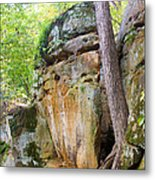 Rock Formation Wildcat Den State Park Metal Print