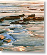 Rock Formations At Windansea Beach, La Metal Print