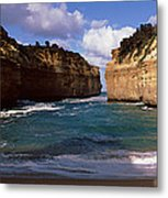 Rock Formations In The Ocean, Loch Ard Metal Print