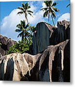 Rock Formations On The Beach, Anse Metal Print