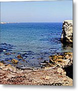 Rock Formations On The Beach, Marcona Metal Print