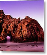 Rock Formations On The Beach, Pfeiffer Metal Print