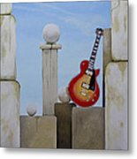 Rock Guitar Les Paul Custom Metal Print