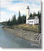 Rock Harbor Lighthouse Metal Print