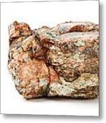 Rock Isolated On White Metal Print