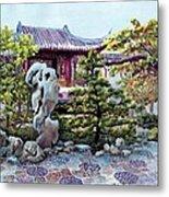 Rock Landscape Of The Dr. Sun Yat-sen Garden Metal Print