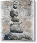 Rock Markers Photo Art 01 Metal Print