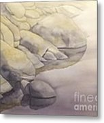 Rock Meets Water Metal Print