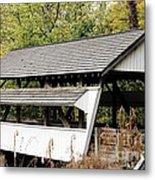 Rock Mill Covered Bridge Ohio Metal Print