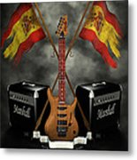 Rock N Roll Crest- Spain Metal Print by Frederico Borges