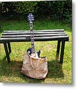Rock N Roll Guitar In A Bag Metal Print