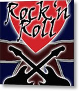 Rock N Roll Union Jack Metal Print