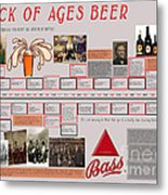 Rock Of Ages Bass Beer Timeline Metal Print