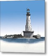 Rock Of Ages Lighthouse Metal Print