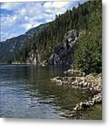 Rock Pools On Christina Lake Metal Print