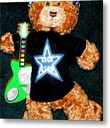 Rock Star Teddy Bear Metal Print