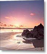 Rock Sunset 03 Metal Print