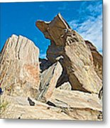 Rock Uplifts In Andreas Canyon In Indian Canyons-ca Metal Print