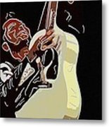 Rockabilly Electric Guitar Player  Metal Print by Tommytechno Sweden