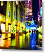 Rockefeller Center Christmas Trees - Holiday And Christmas Card Metal Print