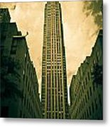 Rockefeller Tower Metal Print