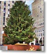 Rockefeller Tree Metal Print