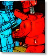 Rockem Sockem Robots - Color Sketch Style - Version 1 Metal Print by Wingsdomain Art and Photography