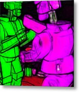 Rockem Sockem Robots - Color Sketch Style - Version 2 Metal Print