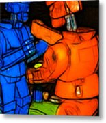 Rockem Sockem Robots - Color Sketch Style - Version 3 Metal Print by Wingsdomain Art and Photography