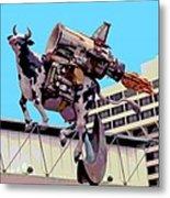 Rocket Cow Sculpture By Michael Bingham Metal Print