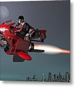 Rocket Scooter Metal Print