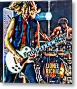 Rockin Guitarist Metal Print