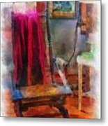 Rocking Chair Photo Art Metal Print