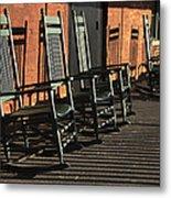 Rocking Chairs Metal Print