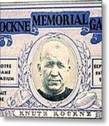 Rockne Memorial Game Metal Print
