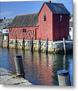 Rockport Fishing Village Metal Print