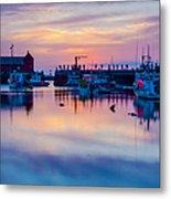Rockport Harbor Sunrise Over Motif #1 Metal Print