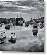 Rockport Harbor View - Bw Metal Print
