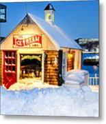 Rockport Winter Metal Print