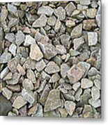 Rocks And Stones Texture Metal Print