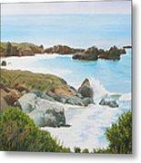 Rocks And Waves - California Coast Metal Print