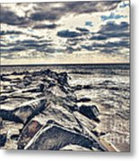 Rocks At Cape May Metal Print