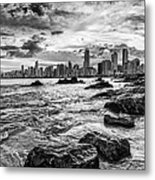 Rocks By The Sea Metal Print
