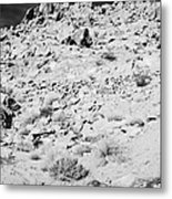 Rocks Forming Support For The Old Arrowhead Trail Road Valley Of Fire State Park Nevada Usa Metal Print
