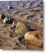 Rocks In A Row Metal Print