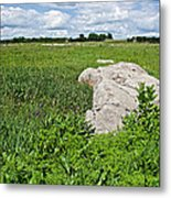 Rocks In A Tall Grass Prairie In Pipestone National Monument-minnesota Metal Print